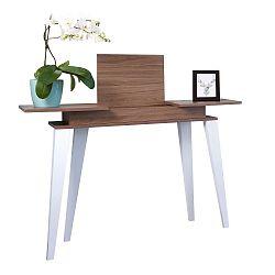 Tmavě hnědý konzolový stolek Symbiosis Prism