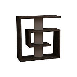 Tmavě hnědý příruční stolek Saly Dark Wenge Light Mocha
