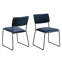 Tmavě modrá jídelní židle Actona Cornelia
