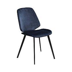 Tmavě modrá jídelní židle DAN–FORM Denmark Swing Velvet