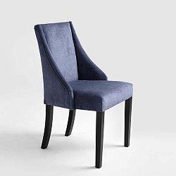Tmavě modrá jídelní židle s černými nohami Custom Form Venti