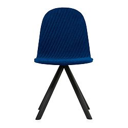 Tmavě modrá židle s černými nohami Iker Mannequin Stripe