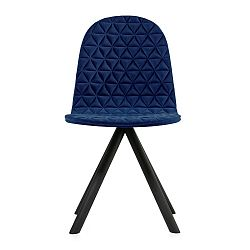 Tmavě modrá židle s černými nohami Iker Mannequin Triangle