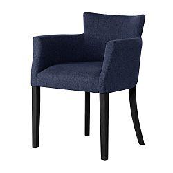 Tmavě modrá židle s černými nohami Ted Lapidus Maison Santal
