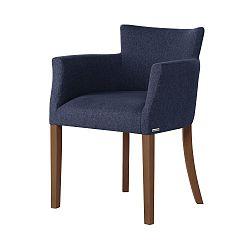 Tmavě modrá židle s tmavě hnědými nohami Ted Lapidus Maison Santal
