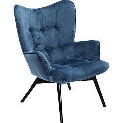 Tmavě modré křeslo Kare Design Vicky Velvet