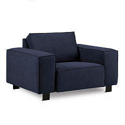 Tmavě modré křeslo Kooko Home Modern