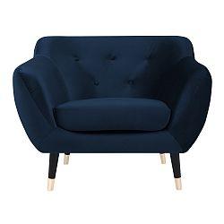 Tmavě modré křeslo s černými nohami Paolo Bellutti Giorgio