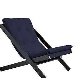 Tmavě modré skládací křeslo z bukového dřeva Karup Design Boogie Black/Navy