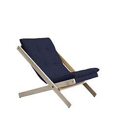 Tmavě modré skládací křeslo z bukového dřeva Karup Design Boogie Raw/Navy