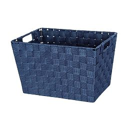 Tmavě modrý košík Wenko Adria, 25,5x35cm