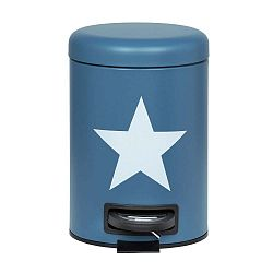 Tmavě modrý odpadkový pedálový koš Wenko Stella, 3 l