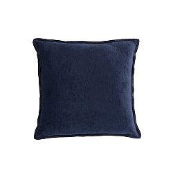 Tmavě modrý polštář White Label Justin, 45x45cm