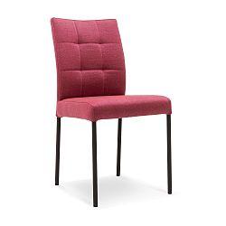 Tmavě růžová jídelní židle s černými nohami Mossø Gerro