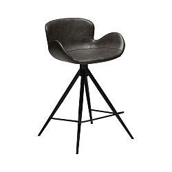 Tmavě šedá barová židle z eko kůže DAN–FORM Denmark Gaia, výška 87 cm