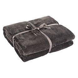 Tmavě šedá deka z mikrovlákna DecoKing Henry, 200x150cm