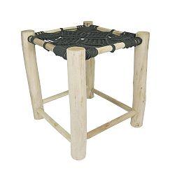Tmavě šedá dřevěná stolička HF Living Star, 40x40cm