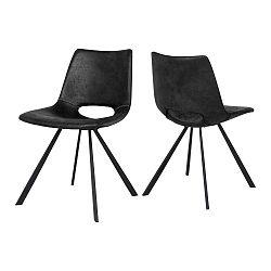 Tmavě šedá jídelní židle Canett Coronas Rayle