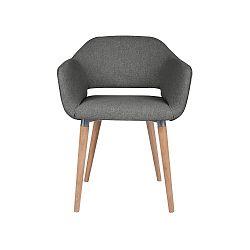 Tmavě šedá jídelní židle Cosmopolitan Design Napoli