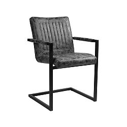 Tmavě šedá jídelní židle LABEL51 Rossi