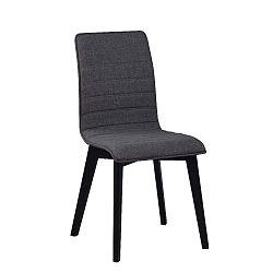 Tmavě šedá jídelní židle s černými nohami Folke Grace
