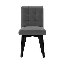 Tmavě šedá jídelní židle sčernými nohami My Pop Design Haring