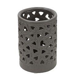 Tmavě šedá porcelánová váza Mauro Ferretti Amour