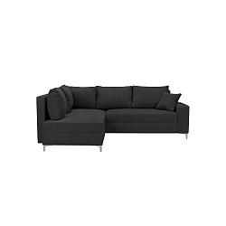 Tmavě šedá rozkládací rohová pohovka Windsor & Co Sofas Zeta, levý roh