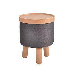 Tmavě šedá stolička Garageeight Molde s odnímatelným vrškem, velikost S