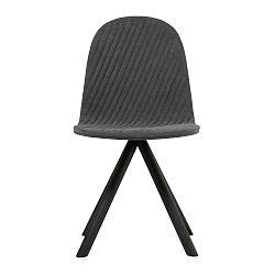 Tmavě šedá židle s černými nohami Iker Mannequin Stripe