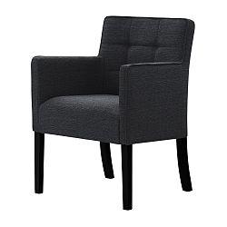Tmavě šedá židle s černými nohami Ted Lapidus Maison Freesia