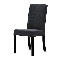 Tmavě šedá židle s černými nohami Ted Lapidus Maison Tonka