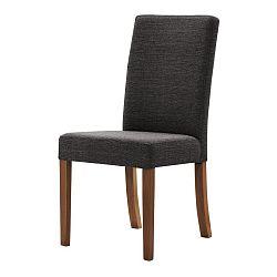 Tmavě šedá židle s tmavě hnědými nohami Ted Lapidus Maison Tonka