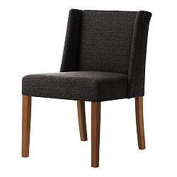 Tmavě šedá židle s tmavě hnědými nohami Ted Lapidus Maison Zeste