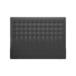 Tmavě šedé čelo postele se sametovým potahem Windsor & Co Sofas Apollo, 140x120cm
