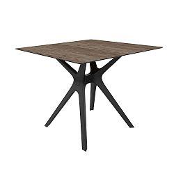 Tmavě šedý jídelní stůl vhodný do exteriéru Resol Vela, 90 x 90 cm