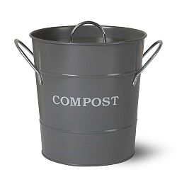 Tmavě šedý kompostér s víkem Garden Trading Compost, 3,5l