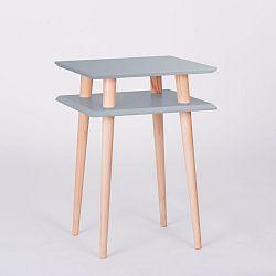 Tmavě šedý konferenční stolek Ragaba Square, 43x43cm
