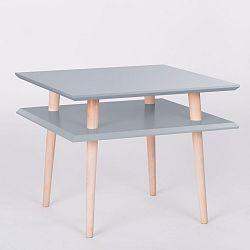 Tmavě šedý konferenční stolek Ragaba Square, 55x55cm