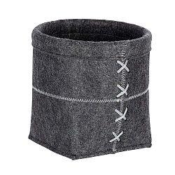 Tmavě šedý plstěný košík Wenko Mara, šířka20cm