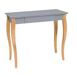 Tmavě šedý psací stůl Ragaba Lillo,délka85 cm