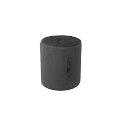 Tmavě šedý puf Mazzini Sofas Fiore, ⌀ 40 cm