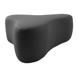 Tmavě šedý puf Softline Chat Felt Melange Grey, délka 130 cm