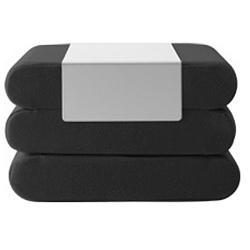 Tmavě šedý rozkládací puf Softline Bingo Eco Cotton Grey