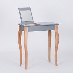 Tmavě šedý  toaletní stolek se zrcadlem Ragaba Dressing Table,délka65cm