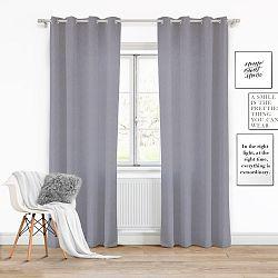 Tmavě šedý závěs Slowdeco Vivat, 140 x 250 cm