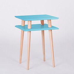 Tmavě tyrkysový konferenční stolek Ragaba Square, 43x43cm