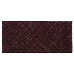 Tmavě vínová rohožka Tica Copenhagen Lines, 67x150cm