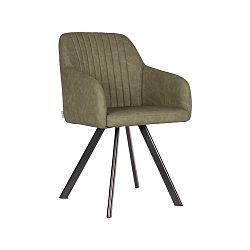Tmavě zelená jídelní židle LABEL51 Floor