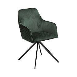 Tmavě zelená jídelní židle s područkami DAN–FORM Denmark Twine Velvet